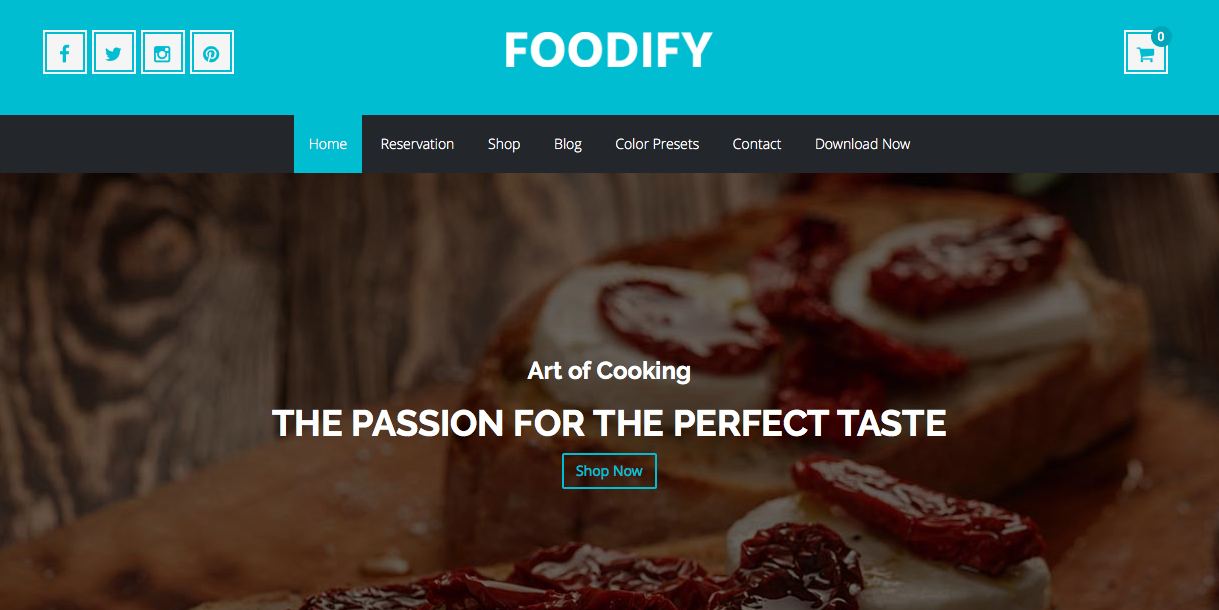 Foodify J2store Ecommerce Template