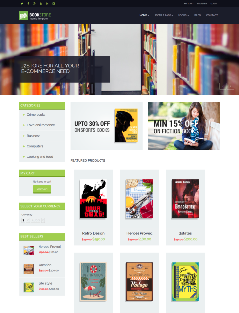 charming joomla bookstore template photos - resume ideas, Powerpoint templates