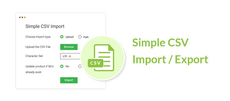 Simple CSV Import / Export