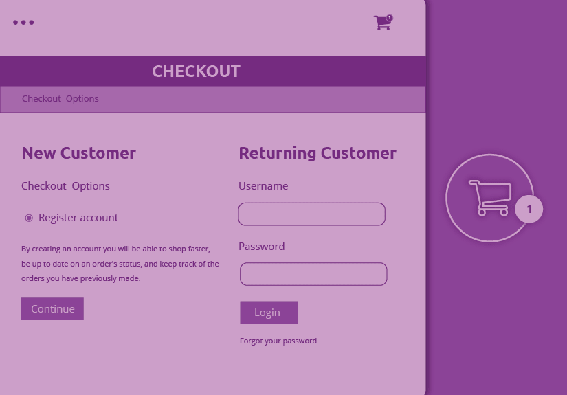 simple one page customer checkout