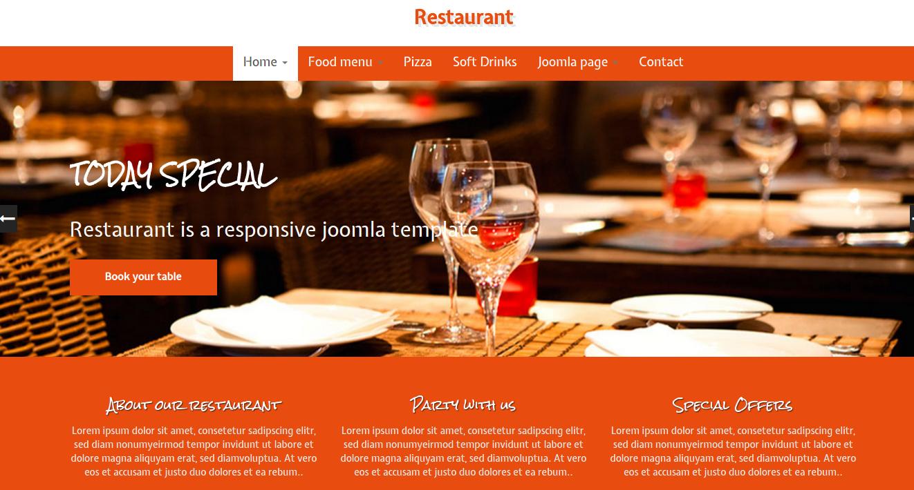 Restaurant Joomla Template
