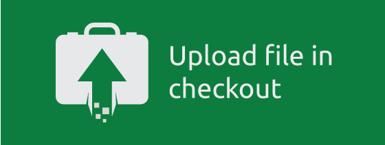Upload files during checkout