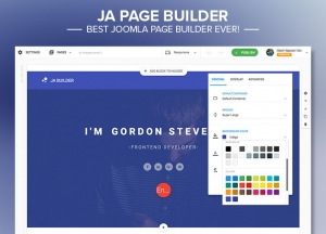 Build awesome pages with JA Joomla Page Builder