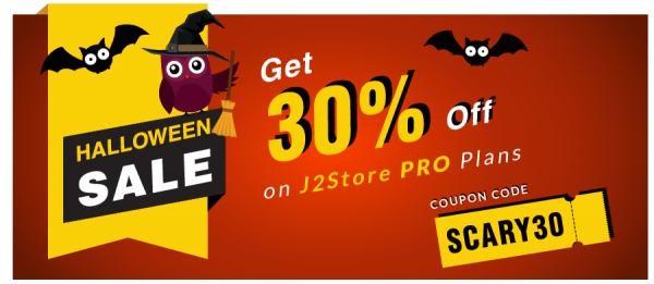 This Halloween 30% Off On J2Store Plans