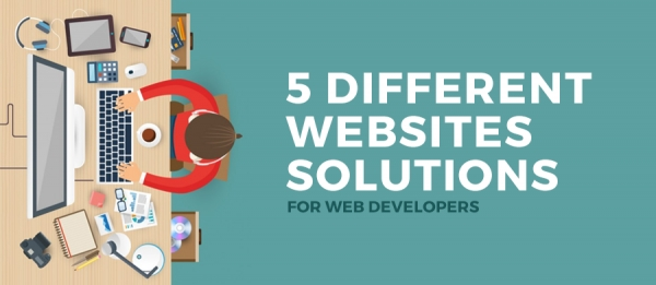 5 different websites solutions for web developers