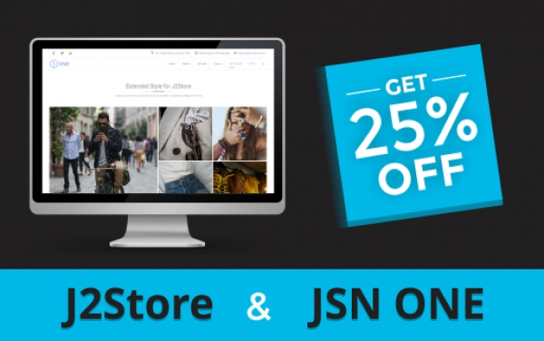 One neat bundle to create your joomla online store. Get 25% discount